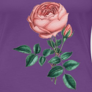 pink rose - Women's Premium T-Shirt