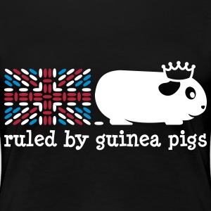 'Ruled by Guinea Pigs' Ladies Plus Size T-Shirt - Women's Premium T-Shirt