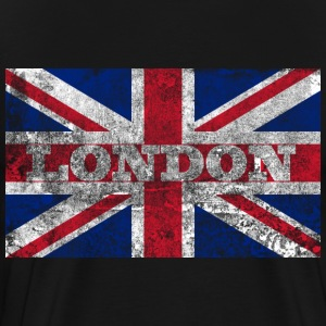 Aged London Flag - Men's Premium T-Shirt
