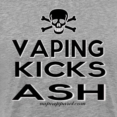 Vaping Kicks Ash T-Shirts