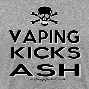 Vaping Kicks Ash T-Shirts - Men's Premium T-Shirt