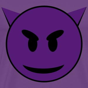 Purple Devil Smiley Face T-Shirts - Men's Premium T-Shirt