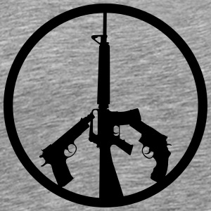 PEACE THRU SUPERIOR FIREPOWER - Men's Premium T-Shirt