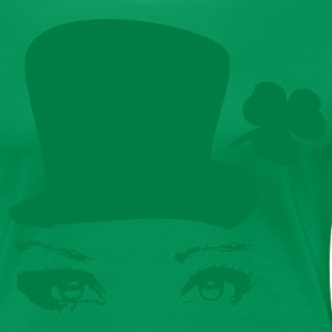 Sexy Irish in green hat st.patty's day Women's Plu - Women's Premium T-Shirt