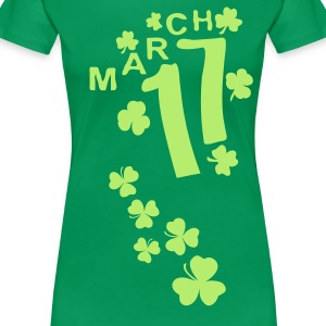 March 17 lucky charm Women's Plus Size Basic T-Shi - Women's Premium T-Shirt