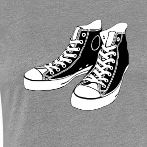 grey Converse - Women's Premium T-Shirt