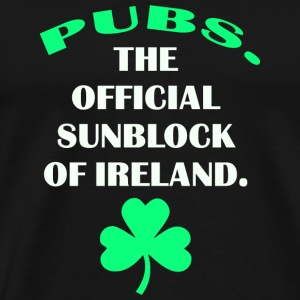 Pubs. The Official Sunscreen of Ireland - Men's Premium T-Shirt