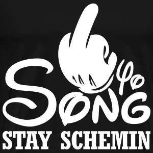 Fuck yo song - stay schemin T-Shirts - Men's Premium T-Shirt