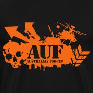 Design ~ AUF Logo - Mens Heavyweight T-Shirt - Basic Logo - Flex Printing LOGO and URL