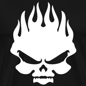 skull flame - Men's Premium T-Shirt