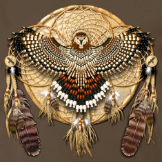 Red-Tailed Hawk Native American Mandala