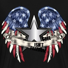 freedom american flag eagle wings