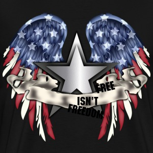 freedom american flag eagle wings - Men's Premium T-Shirt