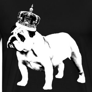 English Bulldog and Crown T-Shirts - Men's Premium T-Shirt