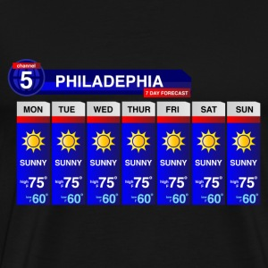 Philadelphia Weather T-Shirts - Men's Premium T-Shirt
