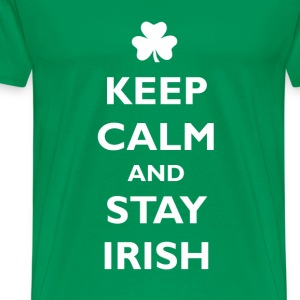 Keep calm and stay irish T-Shirts - Men's Premium T-Shirt