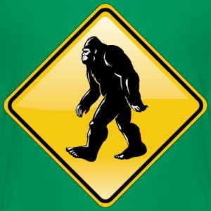 Bigfoot Road Sign - Kids' Premium T-Shirt