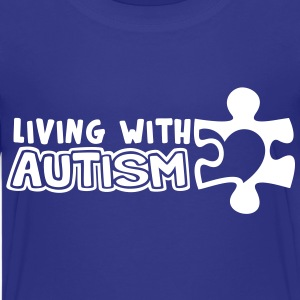 Living With Autism (Children's Size) - Kids' Premium T-Shirt