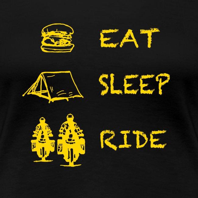 Eat - Sleep - Ride / Shirt LADIES