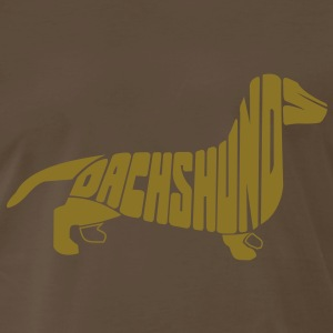 Dachshund Dog Art T-Shirts - Men's Premium T-Shirt