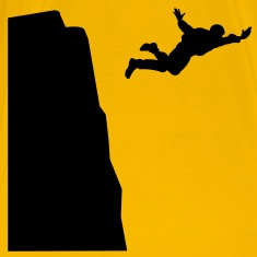 Base jumping Silhouette T-Shirts