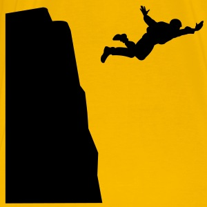 Base jumping Silhouette T-Shirts - Men's Premium T-Shirt