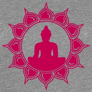 Meditation - buddha lotus - symbol enlightenment Women's T-Shirts - Women's Premium T-Shirt
