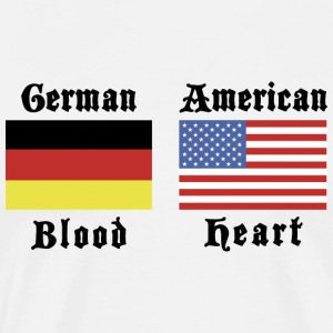 German Blood American Heart T-Shirt - Men's Premium T-Shirt
