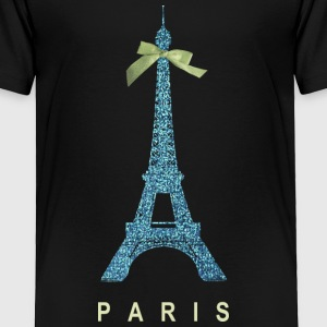 Blue Paris Eiffel Tower with bow Baby & Toddler Shirts - Toddler Premium T-Shirt