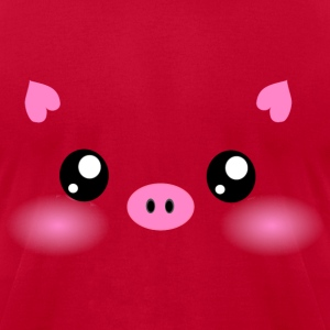Cute Kawaii Pig face T-Shirts - Men's T-Shirt by American Apparel