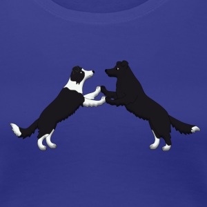dancing border collie Women's T-Shirts - Women's Premium T-Shirt