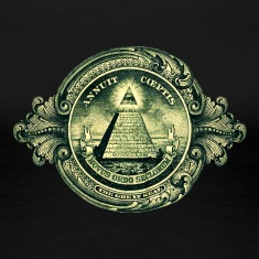 All seeing eye, pyramid, dollar, freemason, god Women's T-Shirts