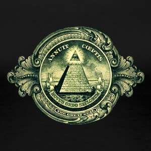 All seeing eye, pyramid, dollar, freemason, god Women's T-Shirts - Women's Premium T-Shirt