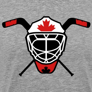 Hockey Goalie Mask Helmet Canada T-Shirts - Men's Premium T-Shirt