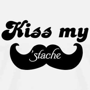 Kiss my Stache T-Shirts - Men's Premium T-Shirt