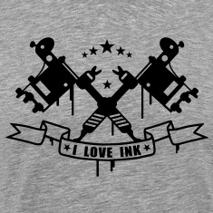 Tatto Machine - I Love Ink T-Shirts