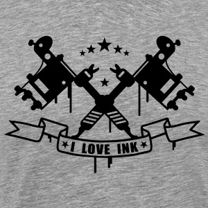 Tatto Machine - I Love Ink T-Shirts - Men's Premium T-Shirt