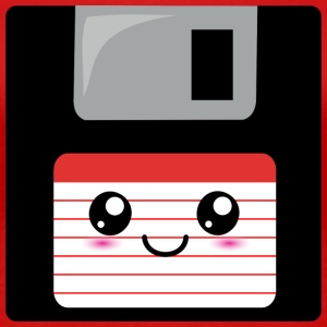 Cute Floppy Disk (red) Women's T-Shirts - Women's Premium T-Shirt