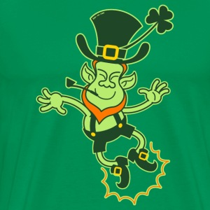 Irish Leprechaun Clapping Feet T-Shirts - Men's Premium T-Shirt