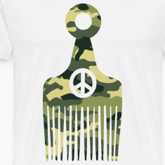 Afro Hair Peace Camo T-Shirts