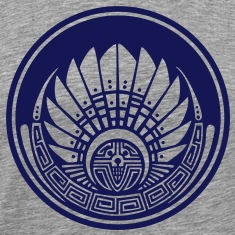 Crop circle - Vector- Mayan mask - Silbury Hill 2009 - Quetzalcoatl - Native Americans - Aztec - Venus - 2012 - New Age / T-shirts (manches courtes)