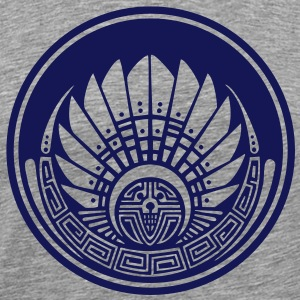 Crop circle - Vector- Mayan mask - Silbury Hill 2009 - Quetzalcoatl - Native Americans - Aztec - Venus - 2012 - New Age / T-Shirts - Men's Premium T-Shirt