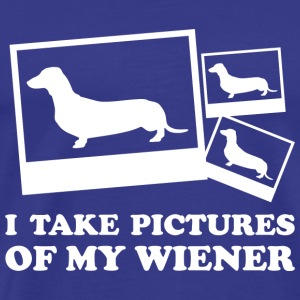 I Take Pictures Of My Wiener - Men's Premium T-Shirt