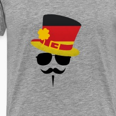 Germany Go Moustache T-Shirts