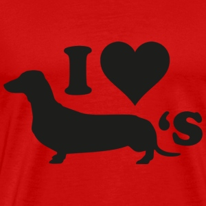 I Love Wieners - Men's Premium T-Shirt