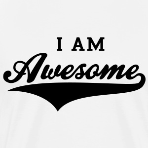 I AM Awesome FUN T-Shirt BK - T-shirt premium pour hommes
