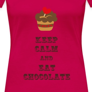 Keep Calm and Eat Chocolate - Women's Premium T-Shirt