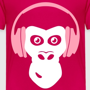 gorilla with headphones Baby & Toddler Shirts - Toddler Premium T-Shirt