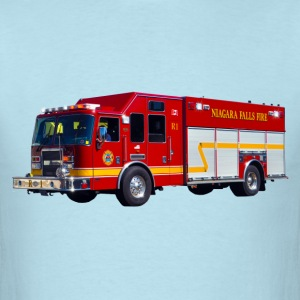 Red Fire Engine I - Men's T-Shirt