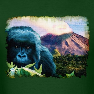 Mountain Gorilla & Volcano - Men's T-Shirt